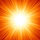 La estrella estalló el fuego rojo y amarillo. EPS 8 Foto de archivo