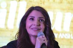 """La estrella estupenda Anushka Sharma de Bollywood promueve su  próximo del """"Phillauri†de la película en Bhopal fotografía de archivo libre de regalías"""