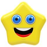 La estrella feliz Imagenes de archivo