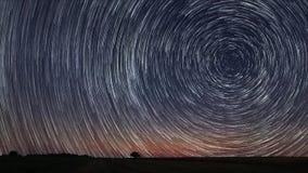 la estrella 4K arrastra time lapse almacen de video