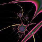 La estrella repartió diseño abstracto stock de ilustración