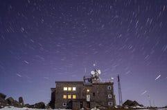 La estrella se arrastra en ountain del ¼ de Vitosha Ð del pico negro imagenes de archivo
