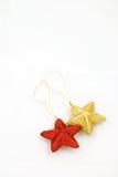 La estrella tiene gusto de los ornamentos de la Navidad Fotos de archivo libres de regalías