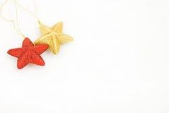 La estrella tiene gusto de los ornamentos de la Navidad Fotografía de archivo libre de regalías