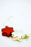 La estrella tiene gusto de los ornamentos de la Navidad Foto de archivo libre de regalías