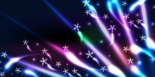 La estrella trae la bandera del efecto del color Fotos de archivo