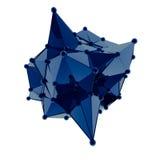 La estructura 3d rinde los gráficos de ordenador CG Ejemplo cristalino Uno del sistema Más en mi cartera stock de ilustración