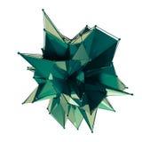 La estructura 3d rinde los gráficos de ordenador CG Ejemplo cristalino Uno del sistema Más en mi cartera libre illustration