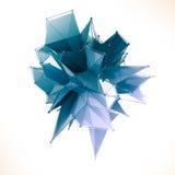 La estructura 3d rinde los gráficos de ordenador CG Ejemplo cristalino Uno del sistema Más en mi cartera imagen de archivo libre de regalías
