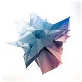 La estructura 3d rinde los gráficos de ordenador CG Ejemplo cristalino Uno del sistema Más en mi cartera Imágenes de archivo libres de regalías