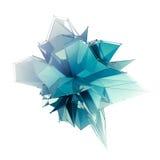 La estructura 3d rinde los gráficos de ordenador CG Ejemplo cristalino Uno del sistema Más en mi cartera ilustración del vector