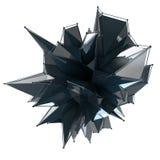 La estructura 3d rinde los gráficos de ordenador CG Ejemplo cristalino Uno del sistema Más en mi cartera Fotografía de archivo libre de regalías