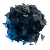 La estructura 3d rinde los gráficos de ordenador CG Ejemplo cristalino Uno del sistema Más en mi cartera Imagenes de archivo
