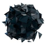 La estructura 3d rinde los gráficos de ordenador CG Ejemplo cristalino Uno del sistema Más en mi cartera Fotografía de archivo