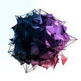 La estructura 3d rinde los gráficos de ordenador CG Ejemplo cristalino Uno del sistema Más en mi cartera Imagen de archivo