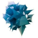 La estructura 3d rinde los gráficos de ordenador CG Ejemplo cristalino Uno del sistema Más en mi cartera Foto de archivo