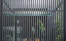 La estructura de aluminio de acero negra adorna el panel Fotos de archivo