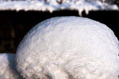 La estructura de la nieve Foto de archivo