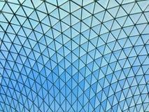 La estructura interior del tejado de British Museum fotos de archivo