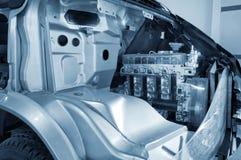La estructura interna del motor de automóvil Imagenes de archivo