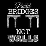 La estructura tiende un puente sobre no el texto de las paredes Diseño para la demostración contra políticas de la anti-inmigraci libre illustration
