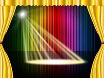 La etapa del proyector representa a Live Event And Beam Fotografía de archivo