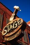 La etapa en Broadway, Nashville, TN Fotografía de archivo libre de regalías