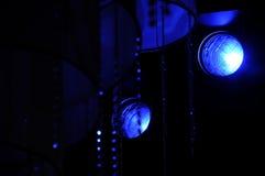 La etapa enciende - el estudio para la demostración de TV de la producción Imagenes de archivo