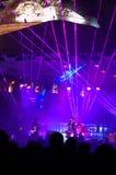 La etapa y rayos de la Noche Vieja Imagen de archivo