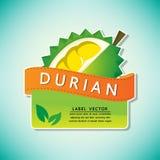 La etiqueta de la fruta del durian, ejemplo Imágenes de archivo libres de regalías
