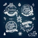 La etiqueta de la Navidad y del Año Nuevo, decoración para usted diseña Fotografía de archivo libre de regalías