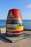 La etiqueta de plástico más situada más al sur de la punta, Key West, los E.E.U.U. fotografía de archivo
