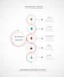 La etiqueta del círculo del infographics 3D del vector con las flechas firma y el optio 5 Fotos de archivo libres de regalías