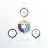 La etiqueta del círculo del infographics 3D del vector con las flechas firma y la opción 3 Imagenes de archivo