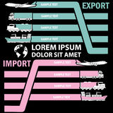La etiqueta del color del transporte para añade el texto de la información del negocio Foto de archivo libre de regalías