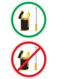 Etiqueta engomada con la muestra de no fumadores Foto de archivo libre de regalías