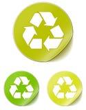 La etiqueta engomada recicla Imagen de archivo