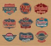 La etiqueta retra del vintage badges - Vector los elementos del diseño libre illustration