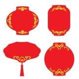 La etiqueta roja de la bandera de la linterna para el vector chino de las celebraciones del festival y del evento diseña Fotografía de archivo libre de regalías