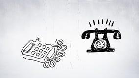 La evolución del teléfono stock de ilustración
