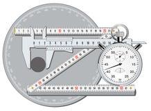 La exactitud calibra Imagen de archivo libre de regalías