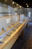 La exhibición de la cerámica excavada junta las piezas a partir de épocas de la guerra, fuerte Ticonderoga, Nueva York, 2015 Imagen de archivo libre de regalías