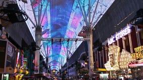 La experiencia de la calle de Fremont en Las Vegas, los E.E.U.U., 2017 almacen de video