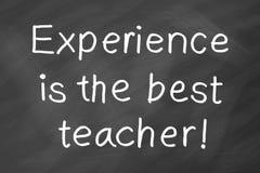 La experiencia es el mejor profesor imagen de archivo libre de regalías