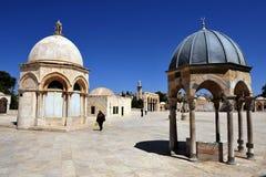 La Explanada de las Mezquitas y bóveda de la roca en Jerusalén Israel Fotografía de archivo libre de regalías