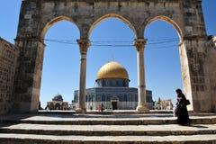 La Explanada de las Mezquitas y bóveda de la roca en Jerusalén Israel Fotos de archivo libres de regalías