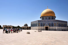 La Explanada de las Mezquitas y bóveda de la roca en Jerusalén Israel Foto de archivo