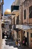 La Explanada de las Mezquitas y bóveda de la roca en Jerusalén Israel Foto de archivo libre de regalías