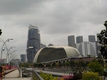 La explanada de la teatro-ópera, Singapur imagen de archivo
