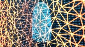 la exploración de la huella dactilar del ejemplo 3D provee del acceso de la seguridad la identificación de la biométrica Protecci libre illustration